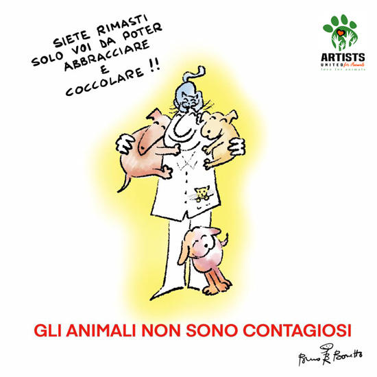 Bruno Bozzetto-ARTISTS UNITED FOR ANIMALS - Coronavirus