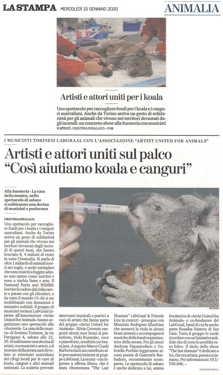 La-Stampa-15-01-2020-LabGraal-per-gli-animali-australiani