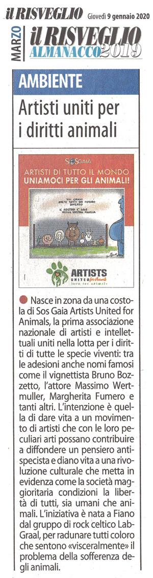 il-risveglio-09-01-2020-almanacco-2019-marzo-artisti-uniti-per-gli-animali