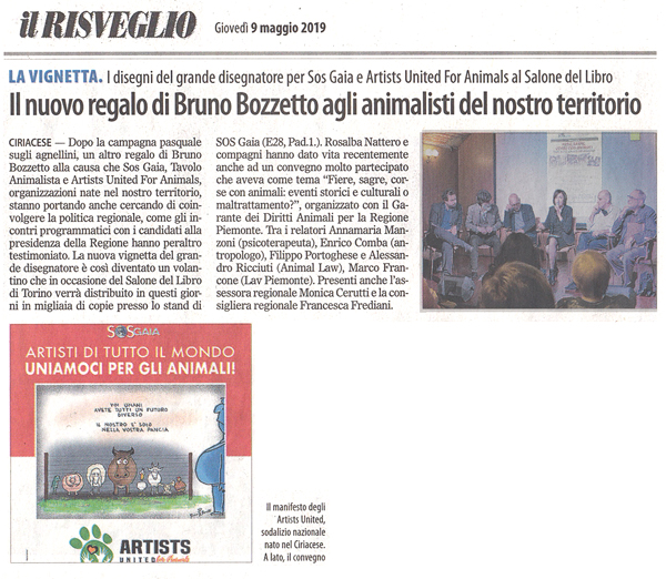 il-risveglio-09-05-2019-artists-united-for-animals-bruno-bozzetto